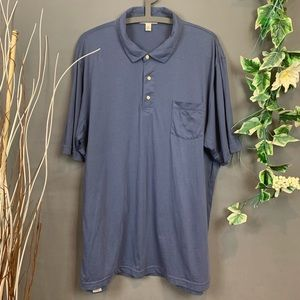 Peter Millar Tailored Fit Blue Polo Shirt
